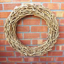 Very Large Tea Tree Wood Round Wicker Wreath Home Wedding Easter Christmas 62 Cm