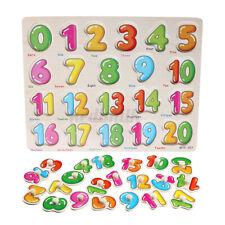 Kids Wooden Puzzle Jigsaw Number Educational Preschool Toys Gift Development