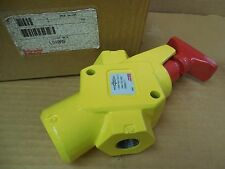 """Schrader Bellows 1/2"""" NPT Lock-Out Valve LV40AS 250 PSI 1724 kPa New"""