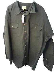 NEW Cabela's Men's Size 2XL Tall Roughneck Canvas Long Sleeve Shirt Work Green