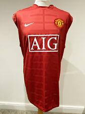 MANCHESTER UNITED 2007/09 Training Vest Top  (XXL)