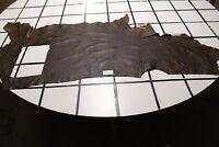 Brown Light Brown Color Splash Scrap Leather Hide Approx. 17.5 sqft. G93X12-5RL