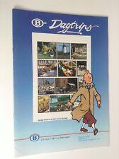 Brochure Tintin SNCB 1991 ETAT NEUF