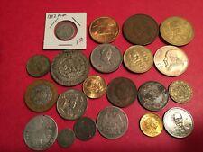 Mexico type set, 1837 to pres, 9 silver coins, 12 non silver, 21 total, l-A7