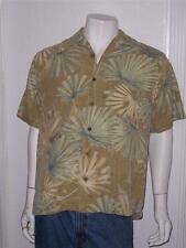 MEN'S TOMMY BAHAMA 100% SILK HAWAIIAN SHORT SLEEVE SHIRT FLORAL DESIGN SIZE S