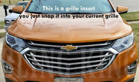 2018-2020 Chevy Equinox Chrome Grille Insert Grill Overlay Trim 3 pc