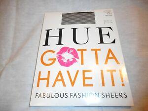 N/W/B Hue Women's Black Faux Net Sheer Stockings Black Size 1