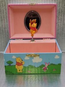 Vintage WINNIE THE POOH Wind up Jewelry Music Box, Kreisler Tune, Works