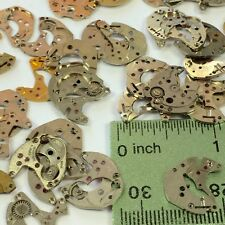 10 Partial Watch Plates Parts Steampunk Gears Wheels Altered Art Old Movements