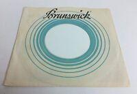 Brunswick Records Company 45 RPM Vinyl Record Sleeve Circular