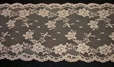 "LOT 50 Yards Vintage Antique Lace Trim Doll Craft Sewing 5 1/2"" Wide Nude Beige"