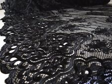 13 Metres Dressmaking Black Lace Fabric Damask Design