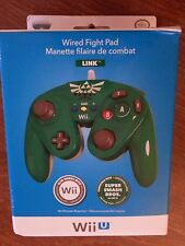 Nintendo Wii & Wii U Super Smash Bros Link Fight Pad Green Controller Brand NEW