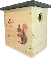 Eichhörnchenhaus Kobel mit Motiven & Schutzlasur