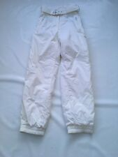 "Ladies Head White Ski Trousers SZ Waist 28"" #452"