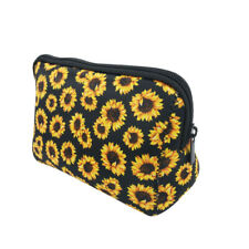 Sunflower Cosmetic Bag Waterproof Portable Travel Toiletry Makeup Organizer Case