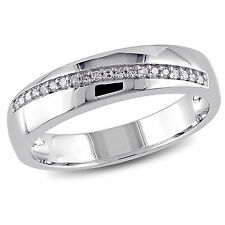 Amour Sterling Silver Men's 1/10 Ct TDW Diamond Ring G-H I2-I3