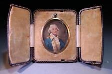 Incredible Miniature Portrait Painting of Washington. 19th C.