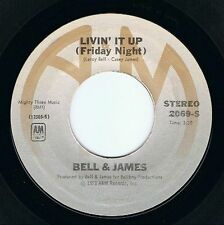 "BELL & JAMES Livin' It Up (Friday Night) 7"" Single Vinyl Record US A&M 1978"