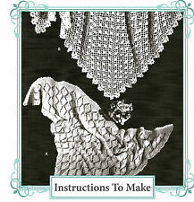 How to make a  Vintage headscarf shawl -lace stitch Crochet & Knitting patterns