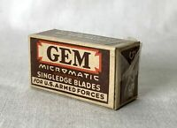 5 NOS Vintage Caja Gem Especial Servicio Paquete Micromatic Simple Edge Cuchilla
