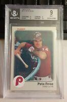BGS Graded 9 MINT 1983 Pete Rose Fleer Baseball Card # 171