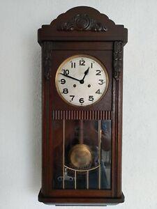 Wanduhr Regulator Pendeluhr Antik Mauthe ca 1920 guter gebrauchter Zustand