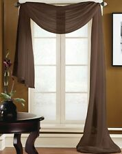 "VALANCE SCARF SWAG VOILE SHEER ELEGANT CURTAIN WINDOW DRAPE 35"" X 216"""