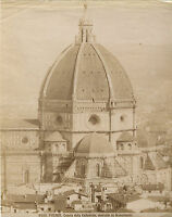Italia Cattedrale Da Florence Albumina Vintage Albume D'Uovo Ca 1880
