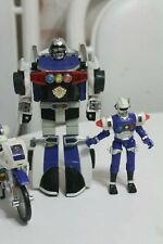 Power Rangers Turbo Robo Car Megazord Electronic Figure and Cycle 1996