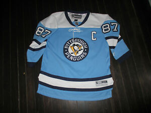 """Sidney Crosby Pittsburgh Penguins NHL """"C"""" jersey Youth Lg/XL by REEBOK"""