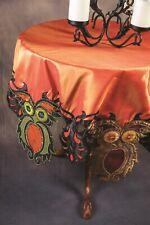 Victorian Trading Co Tafetta & Sequin Halloween Owl Tablecloth