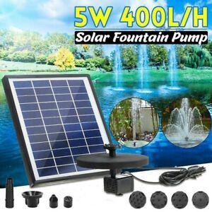 LED Solar Teich Pumpe Mit Akku Springbrunnen Fontäne Garten Wasserspiel Brunnen
