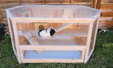 Kleintierkäfig VILLA Nagerkäfig Holz Hamsterkäfig Stall Meerschweinchen Käfig