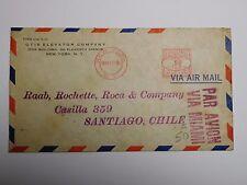 """Courrier ancien """" Par avion """" New York - Santiago - 1935"""