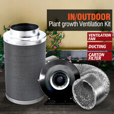 "6"" Hydroponics Grow Tent Ventilation Kit Vent Fan Carbon Filter Duct"