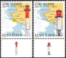 Estonia 2014 Lighthouses/Maritime Safety/Buildings/Architecture/Maps 2v (ee1065)