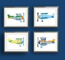 airplane art prints pictures for boys nursery bedroom wall art decor
