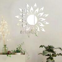 3D Mirror Sun Flower Totem Removable Wall Sticker Decal Home Room Decor Art DIY