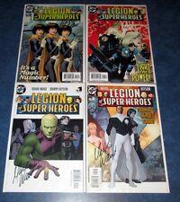 LEGION of SUPER-HEROES #1 2 3 4 signed 1st print set MARK WAID 2005 DC COMIC COA
