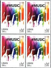 World Music Day stamp MNH blk/4  LibanPost 2017 Lebanon Liban
