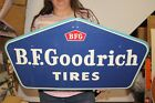 "Vintage 1958 B.F. Goodrich Tires Chevrolet Ford Mopar Gas Station 28"" Metal Sign"