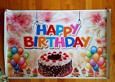 "Reusable ""Happy Birthday"" Tarpaulin(heavy-duty waterproof cloth) 38.5x25"