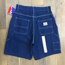 Vtg 80s/90s Lady Liberty Carpenter Denim Shorts High Waist Women's Size 10 NWT