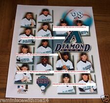 RARE 1998 ARIZONA DIAMONDBACKS TEAM GLOSSY PHOTO - INAUGURAL SEASON - INDIVIDUAL