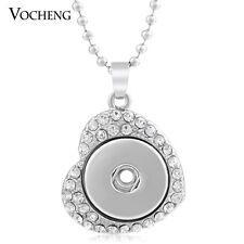 10pcs/lot Wholesale Vocheng Heart Charm Necklace 18mm Snap Jewelry NN-005*10
