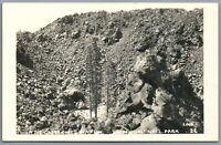 RPPC Postcard Lassene National Park CA in the Cinder Cone Volcano Lava Flow