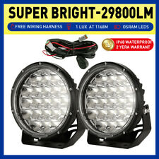 NEW DESIGN OSRAM 7inch Pair Round LED Driving Lights Spot Black Offroad SUV 4X4