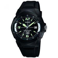 Casio Uhr MW-600F-1AVDF Herren Damen Armbanduhr Schwarz Silber Datum NEU & OVP
