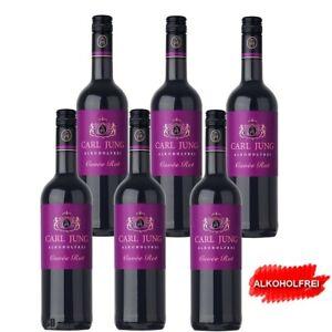 6 x 75 cl Alkoholfreier Rotwein Cuvée Rot <0,5% vol Carl Jung